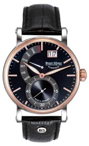 Bruno Soehnle Herren-Armbanduhr Analog Quarz Leder 17-63073-747