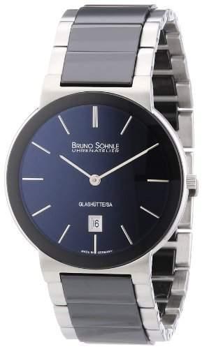 Bruno Soehnle Herren-Armbanduhr XL Algebra III Analog Quarz verschiedene Materialien 17-73101-742