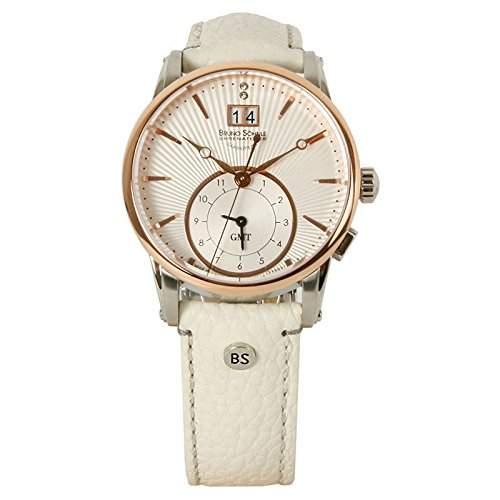Bruno Soehnle Damen-Armbanduhr Atrium Lady Gmt Analog Quarz Leder 17-63154-241
