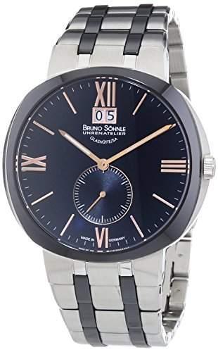 Bruno Soehnle Herren-Armbanduhr XL Facetta Analog Quarz verschiedene Materialien 17-73151-736