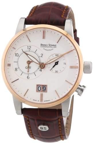 Bruno Soehnle Herren-Armbanduhr XL Milano 2 GMT Chronograph Quarz Leder 17-63043-241