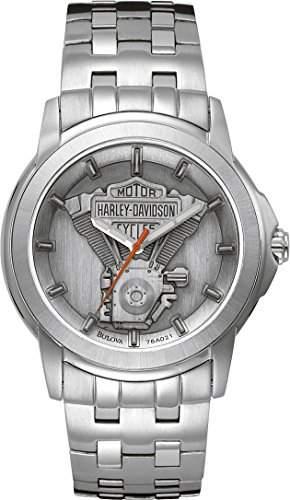 Harley Davidson MenArmbanduhr Analog Edelstahl silber 76A021