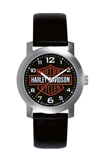 Harley Davidson MenArmbanduhr PH4900-C-PH01T Analog Leder schwarz 76A04