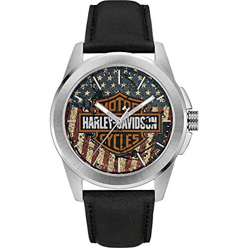 Harley-Davidson Decals Herren-Armbanduhr 76A153