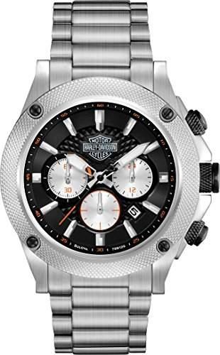 Harley Davidson MenArmbanduhr 16159177 Chronograph Edelstahl silber 78B126