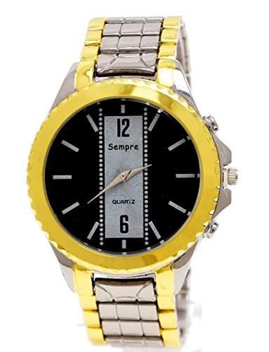 Elegante Luxus Herren Uhr in Gold Schwarz