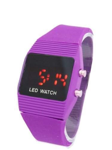 LED Armbanduhr Lila Unisex Model G8-24