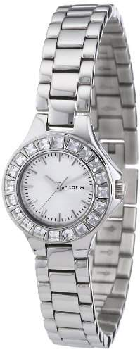 Pilgrim Damen-Armbanduhr XS Analog Quarz Edelstahl beschichtet 701246003