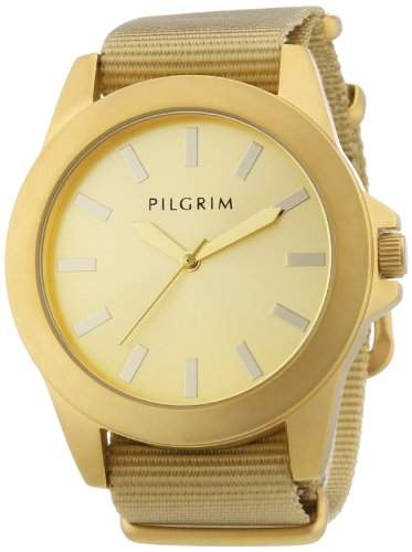 Pilgrim Damen-Armbanduhr Analog Quarz Nylon 701322503