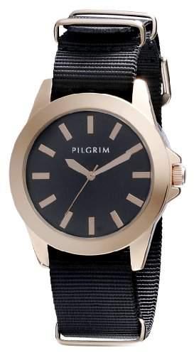 Pilgrim Damen-Armbanduhr Analog Quarz Nylon 701324103