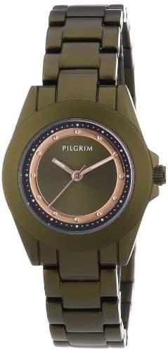 Pilgrim Damen-Armbanduhr XS Analog Quarz Edelstahl beschichtet 701334401