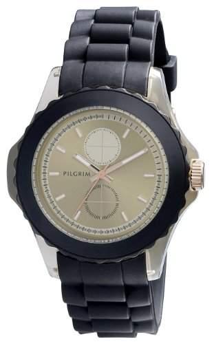 Pilgrim Damen-Armbanduhr XL Analog Quarz Kautschuk 701334502