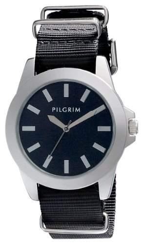 Pilgrim Damen-Armbanduhr Analog Quarz Nylon 701346103