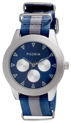Pilgrim Damen-Armbanduhr Analog Quarz Nylon 701346205