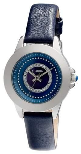 Pilgrim Damen-Armbanduhr XS Analog Quarz Leder 701346207