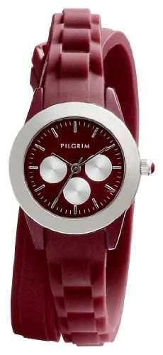 Pilgrim Damen-Armbanduhr XS Analog Quarz Kautschuk 701346304