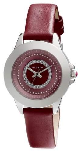 Pilgrim Damen-Armbanduhr XS Analog Quarz Leder 701346307