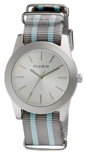 Pilgrim Damen-Armbanduhr Analog Quarz Nylon 701416404