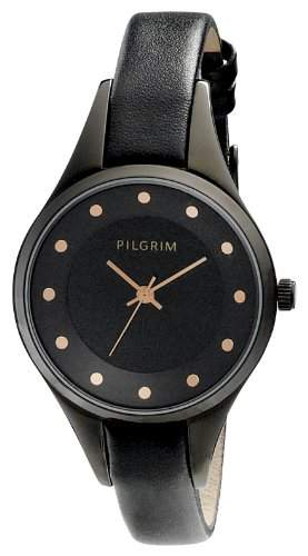 Pilgrim Damen-Armbanduhr XS Analog Quarz Leder 701423104