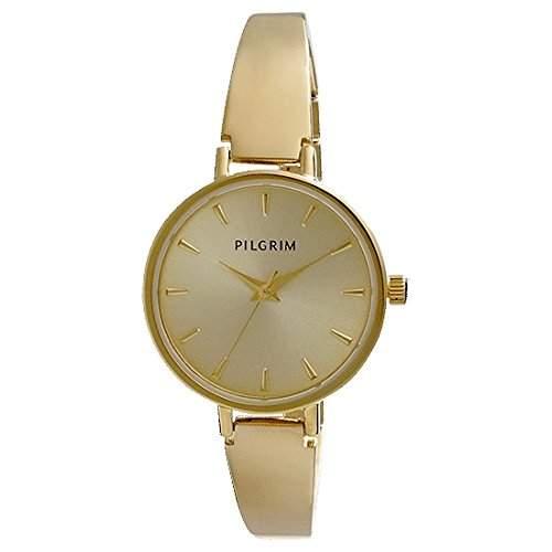 Pilgrim Damen-Armbanduhr XS Analog Quarz Gold 701432004