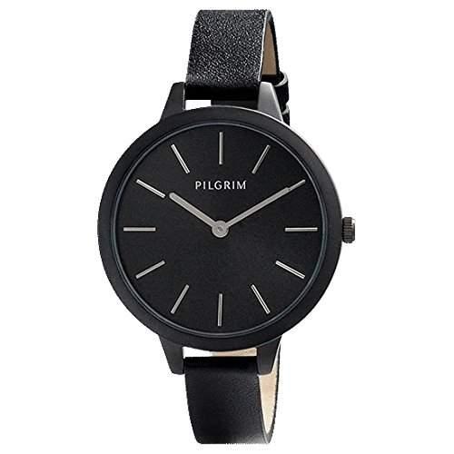 Pilgrim Damen-Armbanduhr Analog Quarz Kunstleder 701433102