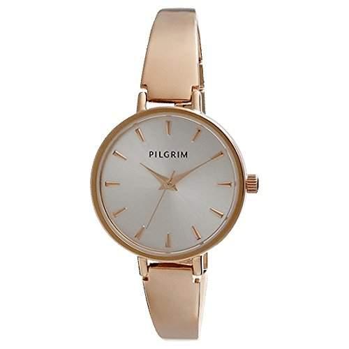 Pilgrim Damen-Armbanduhr XS Analog Quarz Rotgold 701434004