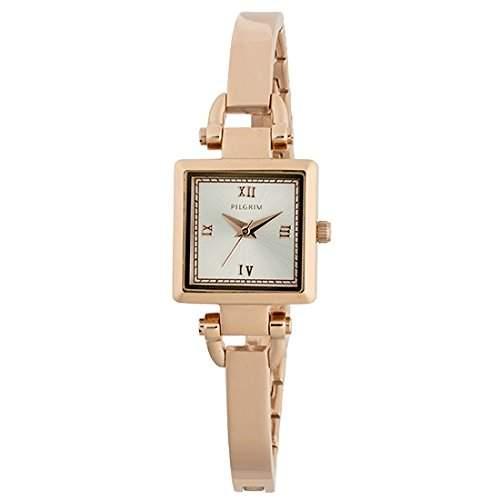 Pilgrim Damen-Armbanduhr Analog Quarz Rotgold 701514001
