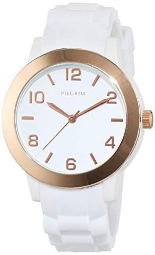 Pilgrim Damen-Armbanduhr Analog Quarz weiss 701514002