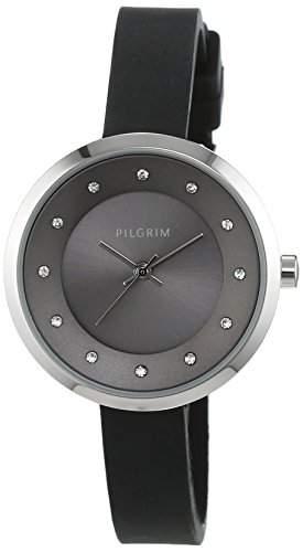 Pilgrim Damen-Armbanduhr Analog Quarz schwarz 701516103