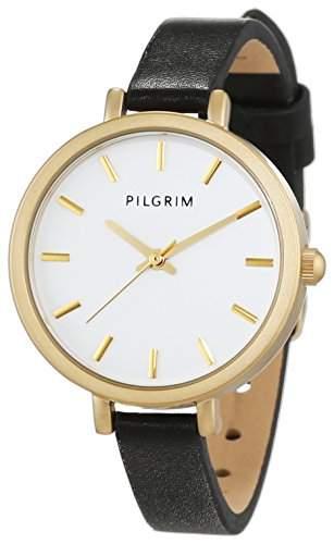 Pilgrim Damen-Armbanduhr Analog Quarz Leder 701522140