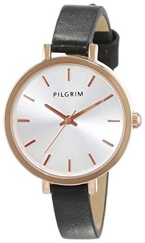 Pilgrim Damen-Armbanduhr Analog Quarz Leder 701524150