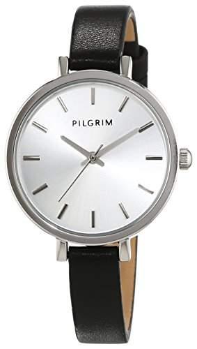 Pilgrim Damen-Armbanduhr Analog Quarz Leder 701526130