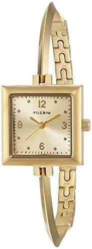 Pilgrim Damen-Armbanduhr Analog Quarz Edelstahl 701532000