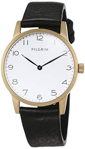 Pilgrim Damen-Armbanduhr Analog Quarz Leder 701532110