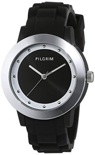 Pilgrim Damen-Armbanduhr Analog Quarz Kautschuk 701533120