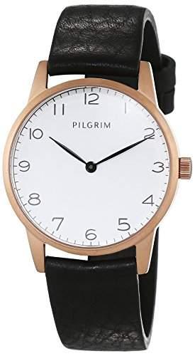 Pilgrim Damen-Armbanduhr Analog Quarz Leder 701534110