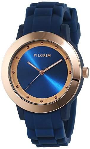 Pilgrim Damen-Armbanduhr Analog Quarz Kautschuk 701534220