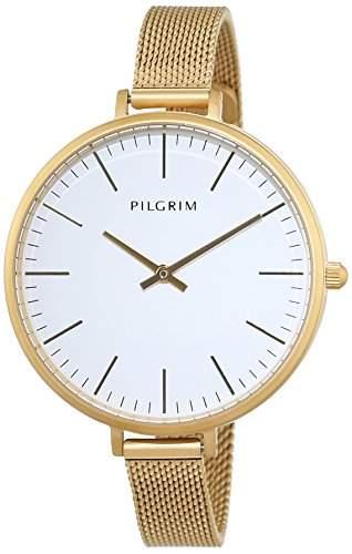 Pilgrim Damen-Armbanduhr Analog Quarz Edelstahl 701542010