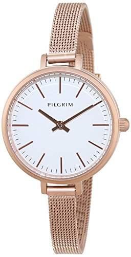 Pilgrim Damen-Armbanduhr Analog Quarz Edelstahl 701544000