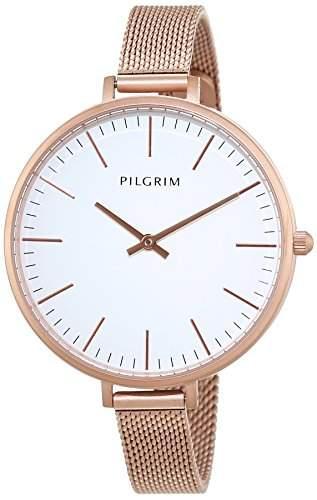 Pilgrim Damen-Armbanduhr Analog Quarz Edelstahl 701544010