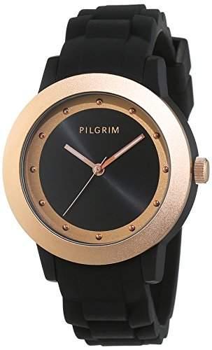 Pilgrim Damen-Armbanduhr Analog Quarz Silikon 701544130