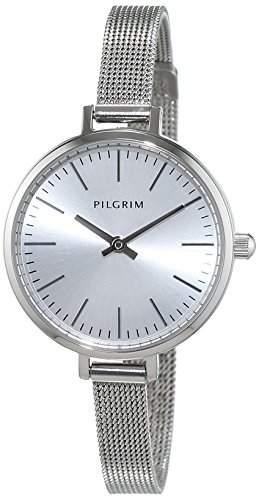 Pilgrim Damen-Armbanduhr Analog Quarz Edelstahl 701546000