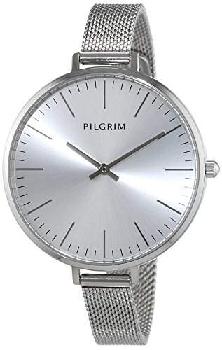 Pilgrim Damen-Armbanduhr Analog Quarz Edelstahl 701546010