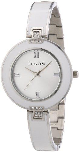 Pilgrim Damen Armbanduhr XS Uhr mit Metalarmband Analog Quarz Edelstahl beschichtet 701316003