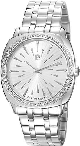 Pierre Cardin Damen-Armbanduhr La Bourdonnais Analog Quarz Edelstahl PC106862S05