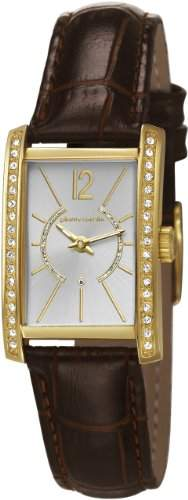 Pierre Cardin LA TETE DOR Damenuhr Edelstahl Gold Lederband Braun PC106562F09