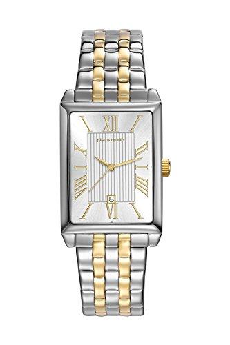 Pierre Cardin Armbanduhr Quarz Uhr PC Belneuf Analoge Uhr mit Datum silbernem Edelstahlarmband und silbernem Zifferblatt 30m 3atm PC107212F14