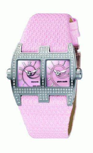 Pierre Cardin Damen Armbanduhr Diamonds Collection Vis a vis Femme PC100112D01