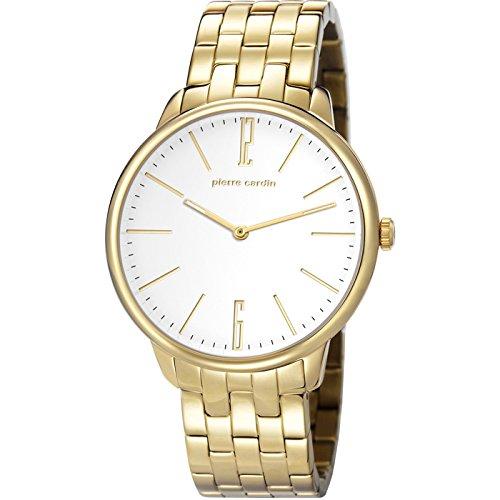 Pierre Cardin Herren 42mm Gold delstahl Armband Gehaeuse Uhr pc106991f09