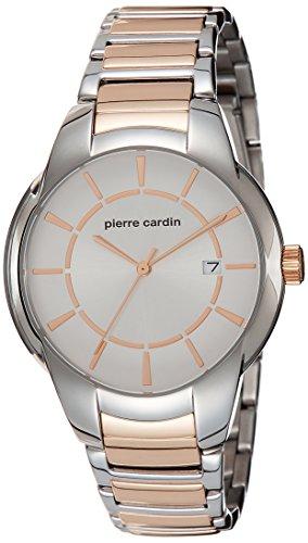 Pierre Cardin Herren Armbanduhr 42mm Armband Zweifaerbiger Edelstahl Zwei Ton Batterie Analog PC107941F07